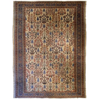 "Antique Oversize Persian Bakshaish Carpet 13' 7"" x 18' 7"""