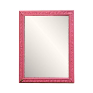Pink Wood Frame Mirror