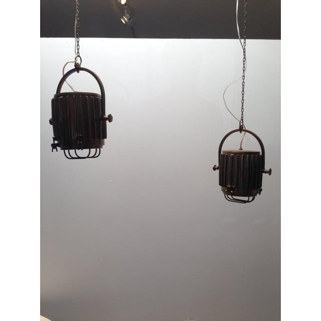 Bronze Industrial/Nautical Hanging Pendants - Image 9 of 11