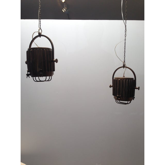 Image of Bronze Industrial/Nautical Hanging Pendants