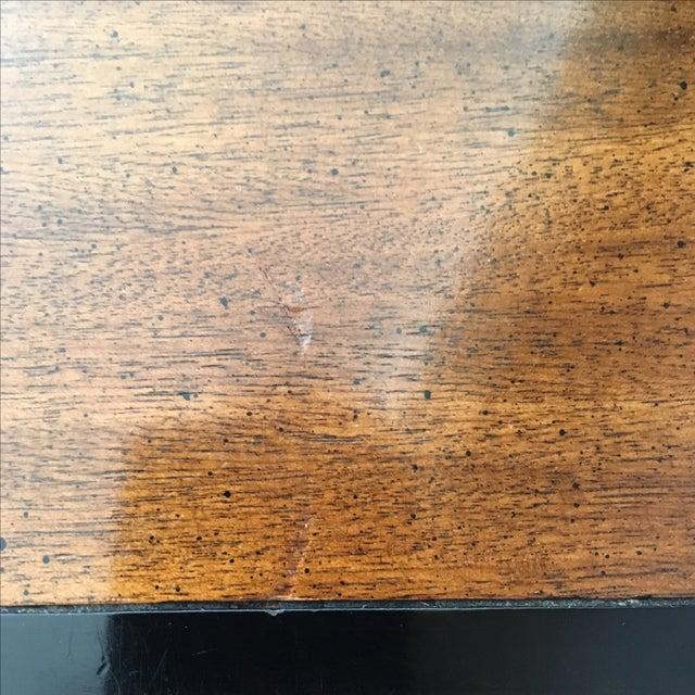 Vintage Century Burled Wood Asian Nightstand - Image 8 of 11