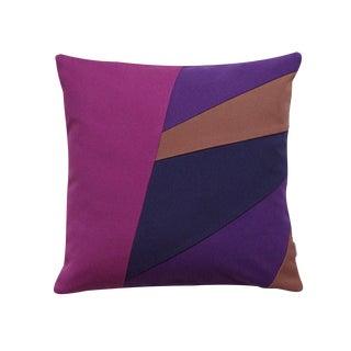 Purple & Blue Striped Pillow