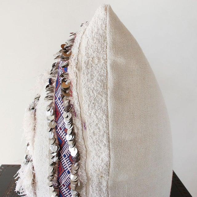 Moroccan Handira Wedding Blanket Pillow VII - Image 3 of 8