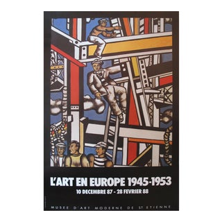 Original 1985 French Constructivism Exhibition Poster