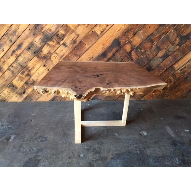 Custom Live Edge Solid Claro Walnut Slab Coffee Table Chairish
