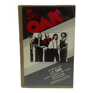 """Vintage Concert Poster """"Rick Pinette & Oak"""" Ft. Hays State University, 1980"""