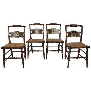 Norman Rockwell 'Four Freedoms' Dining Chairs - 4