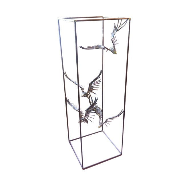 Curtis Jere Caged Eagles in Flight Sculpture - Image 1 of 6