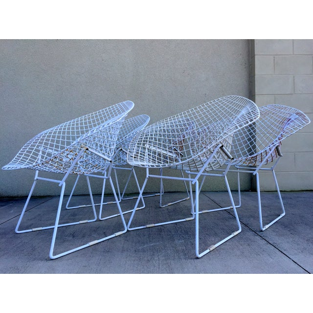 Harry Bertoia Mid-Century White Chairs - Set of 5 - Image 6 of 11