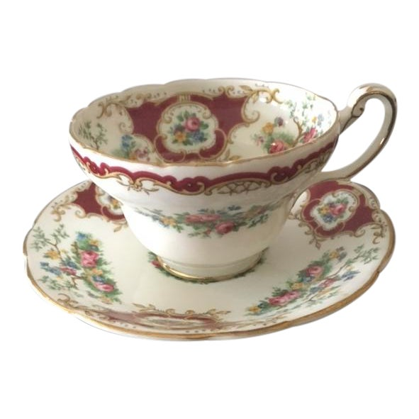 Foley China Tea Cup and Saucer - Image 1 of 6