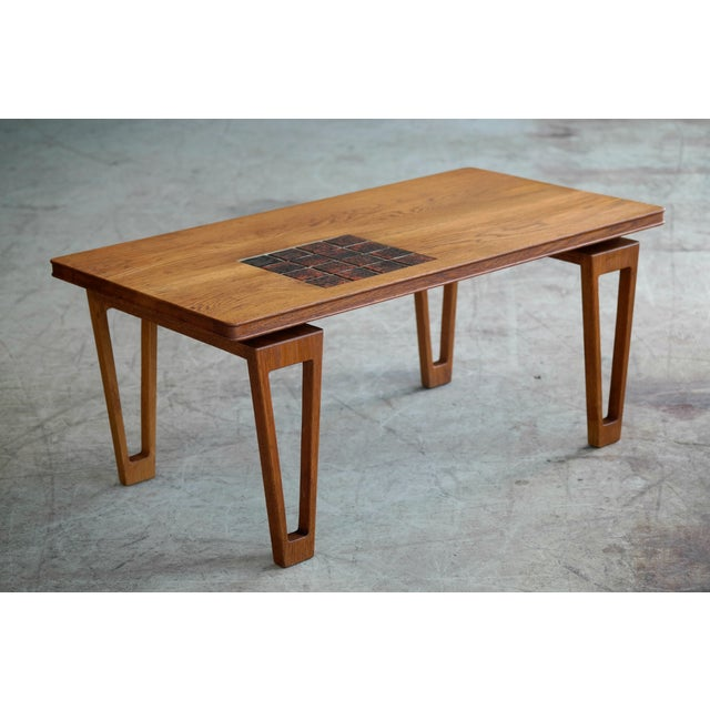 Danish Style Coffee Table: Danish Illum Wikkelso Style Small Coffee Table In Oak With