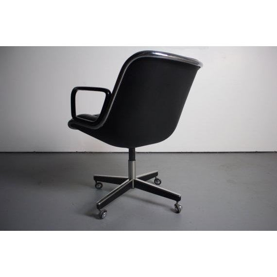 Knoll Black Vinyl Office Chair - Image 3 of 5