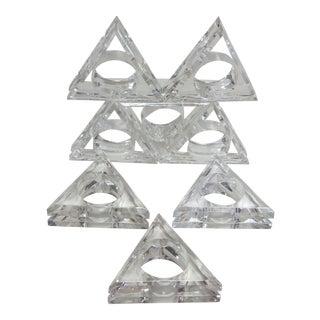 Mid-Century Modern Acrylic Napkin Rings - Set of 8
