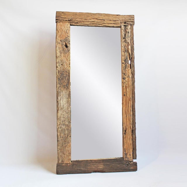 Rustic Wood Mirror - Image 2 of 3