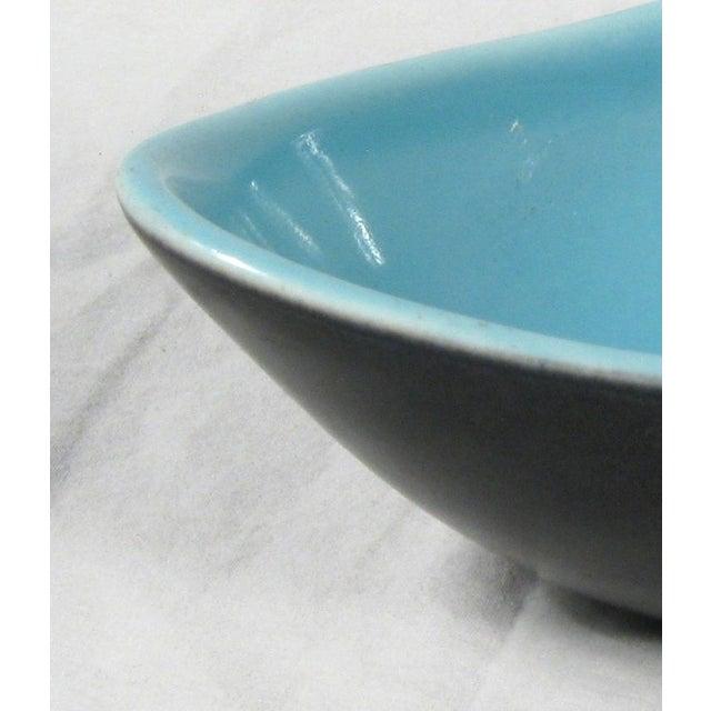 Image of Oblong Glazed Blue & Black Serving Dish