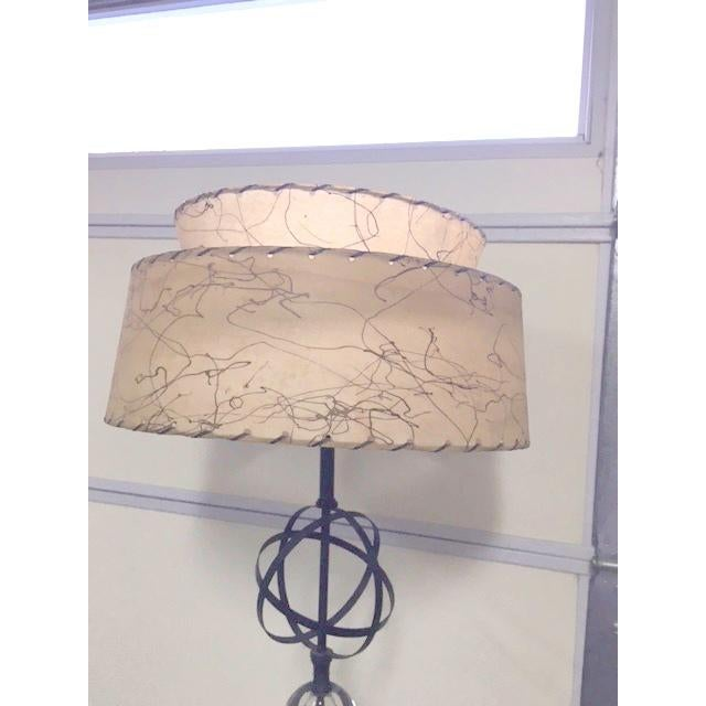 Atomic Mid-Century Lamp With Shade - Image 6 of 9