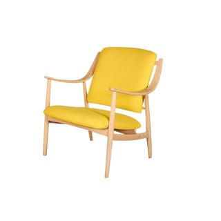 Mid-Century Yellow Arm Chair by Torbjorn Afdal