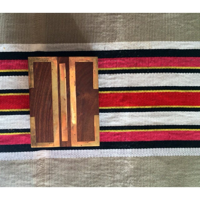 Wood Box With Brass Inlay - Image 7 of 8