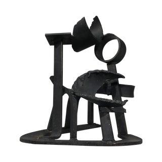 1980s Brutalist Metal Sculpture