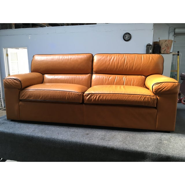 Leather Sofas For Sale In Northern Ireland: Ethan Allen Modern Leather Sofa