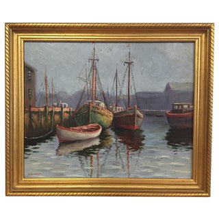 Rockport Harbor Painting by D.P. Wilson