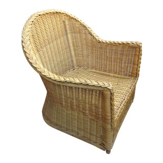 1980s Retro Wicker Palm Springs Chair
