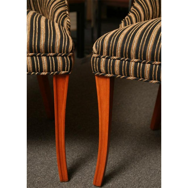 Sleek Tailored 40's Slipper Side Chairs - Image 10 of 10