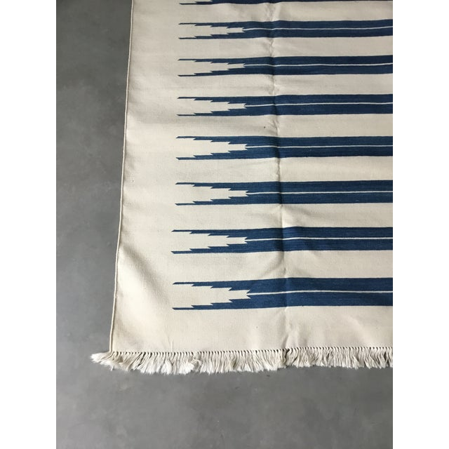 "Dhurrie Rug Custom Handmade in India - 72"" x 99"" - Image 4 of 10"