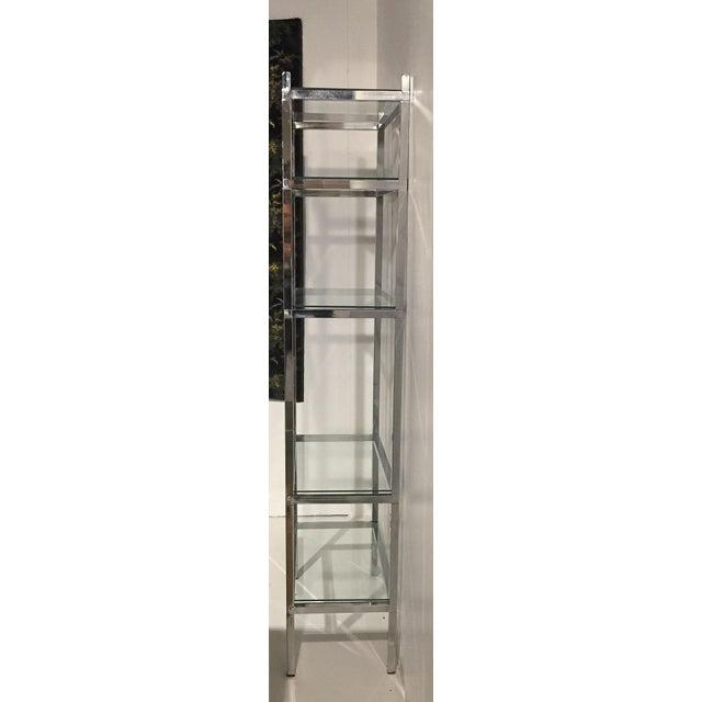 Image of Mid-Century Chrome Bookcase Etagere