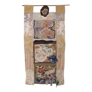 Fabric Collage Wall Hanging