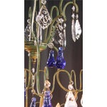 Image of Large Maria Theresa Style 12-Arm Chandelier Blue