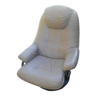 Palliser Beige Leather Recliner