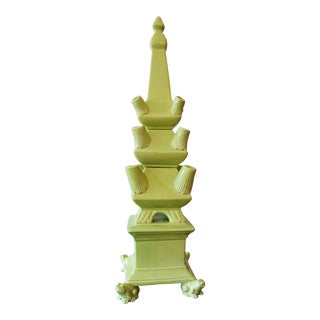 Green Frog Footed Tulipiere Tower Set