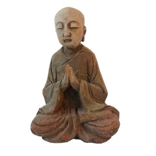Wooden Greeting Buddha