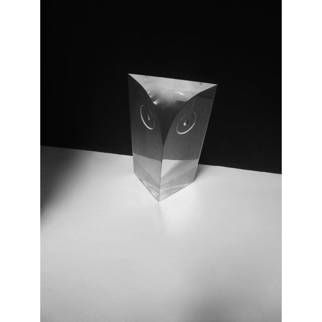 Guzzini Attri. Modernist Lucite Owl Sculpture - Image 7 of 10
