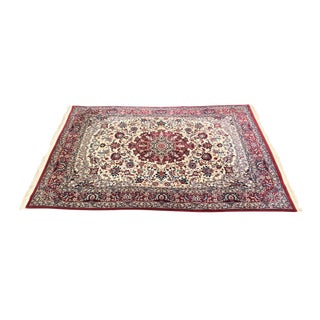 Persian Isfahan Medallion Center Area Rug - 9′ × 12′5″