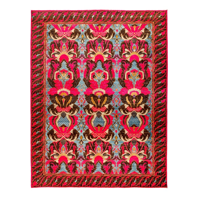 """Image of New Hand Knotted Area Rug - 9'3"""" x 11'10"""""""