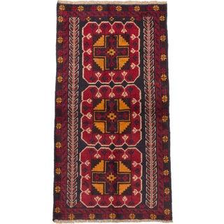 "Vintage Afghan Baluch Rug - 3'4"" x 6'2"""