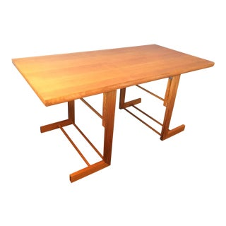 Mid-Century Camel Conversion Dining Table