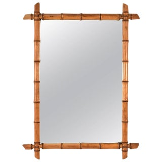 Antique French Bamboo Motif Mirror