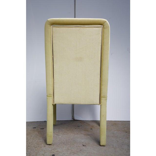 Velvet & Brass Detail Dining Chairs - Set of 8 - Image 8 of 9