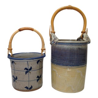 Handmade Pottery Baskets- A Pair
