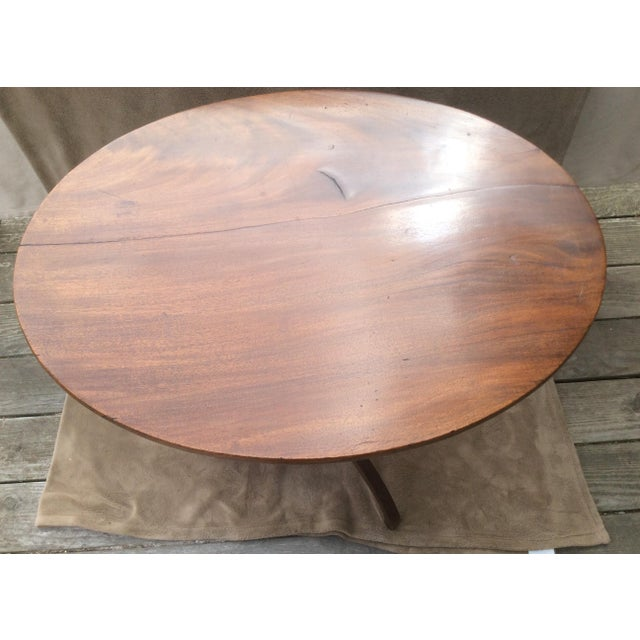 Image of American Mahogany Tilt Top Table