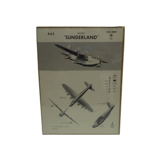 """Vintage WWII """"Short Sunderland"""" Recognition Poster"""