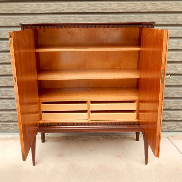 Swedish Moderne Cabinet in Flame Mahogany, 1940's - Image 8 of 10