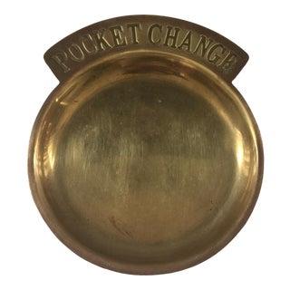 Brass Pocket Change Tray