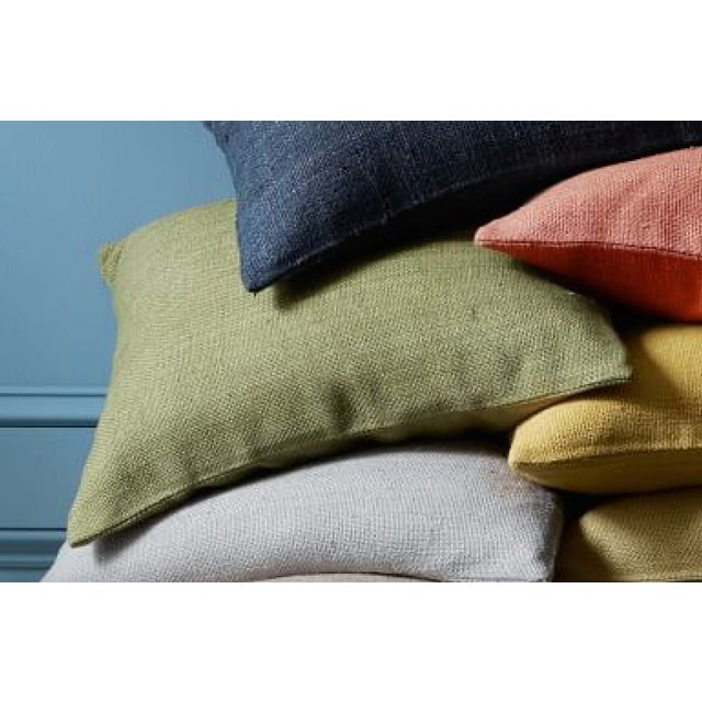 West Elm Green Tea Hand Loomed Silk Pillow Cover - Image 9 of 11