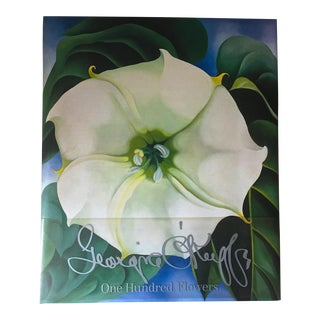 Georgia O'Keefe-100 Flowers-Art Book-1st Edition-1987-Box