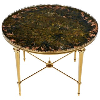 Vintage Maison Ramsay French Brass Side Table