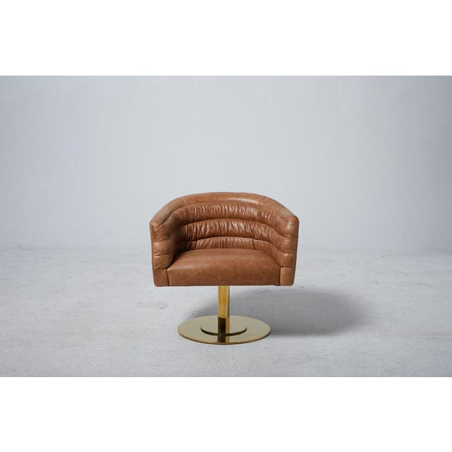 Image of Cupa Brown Leather Chair
